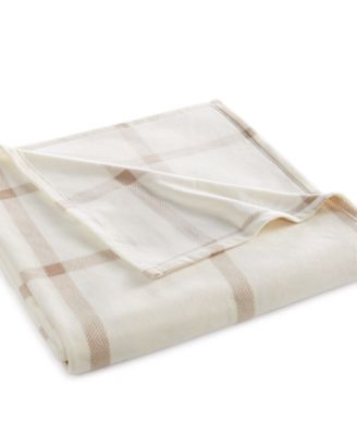 CLOSEOUT! Martha Stewart Collection Soft Fleece Queen Blanket
