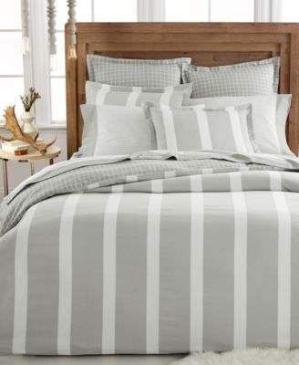 CLOSEOUT! Martha Stewart Collection Willow Stripe Flannel European Sham
