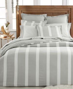 Closeout! Martha Stewart Collection Willow Stripe Flannel Standard Sham Bedding