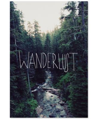 "'Wanderlust Rainier Creek' Canvas Art by Leah Flores, 16"" x 24"""