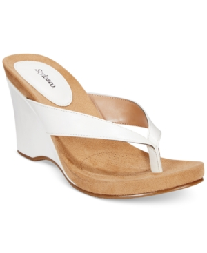 Style & Co. Chicklet Wedge Thong Sandals, Only at Macy's Women's Shoes