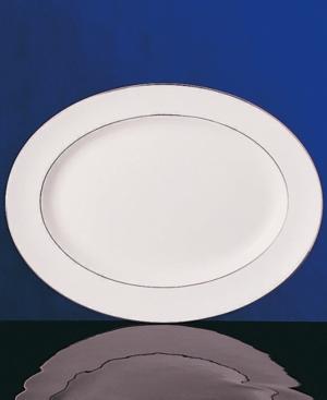 "Wedgwood ""Signet Platinum"" Medium Oval Platter"