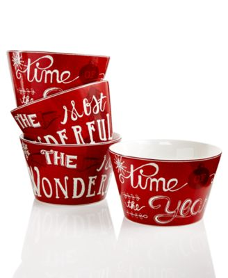 222 Fifth Christmas Tunes Collection Appetizer Bowls