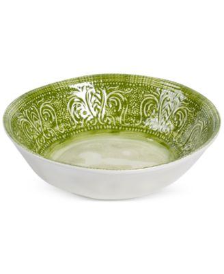 Maison Versailles Castleware Melamine Green Dinner Bowl