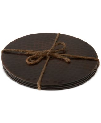 Thirstystone Hammered Copper Coasters