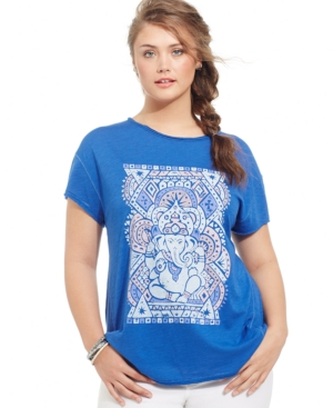Lucky Brand Plus Size Ganesh Graphic Tee