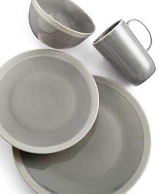 Vera Wang Wedgwood Dinnerware, Gradients Clay Porcelain 4-Pc. Place Setting