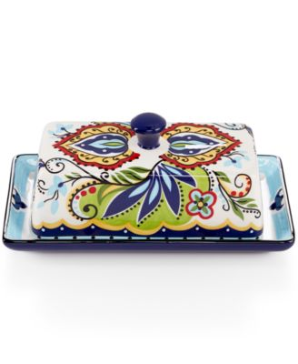 Espana Bocca 2-Pc. Covered Butter Dish