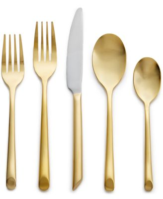 Hotel Collection Gold Flatware 20 Piece Set, Only at Macy's, Service for 4