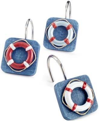 Avanti Bath, Life Preservers Shower Curtain Hooks
