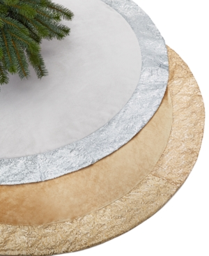 Holiday Lane 52-inch Silver Tree Skirt with Sequin Border