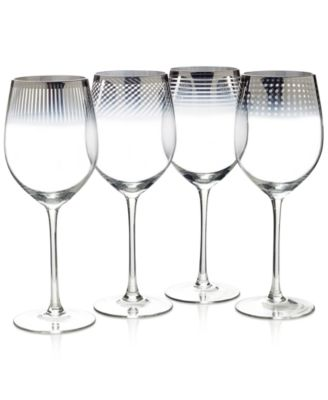 Mikasa Cheers Collection Metallic Ombr® Wine Glasses, Set Of 4