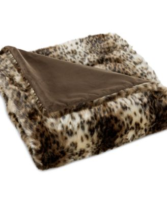 CLOSEOUT! INC International Concepts Faux Fur Throws, Only at Macy's