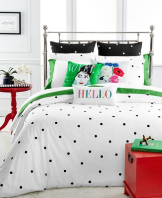 kate spade new york Deco Dot White Full/Queen Duvet Cover Set