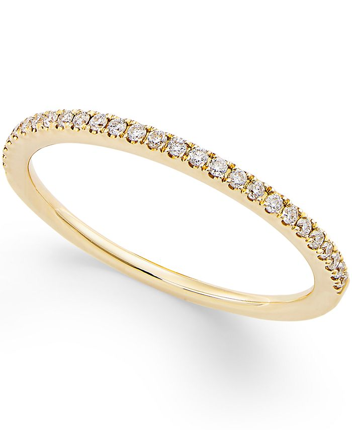 Macy's - Diamond Pavé Ring (1/8 ct. t.w.) in 14k Gold or White Gold