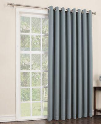 """Sun Zero Gaylen Blackout Woven Curtain 100"""" x 84"""" Patio Panel"""