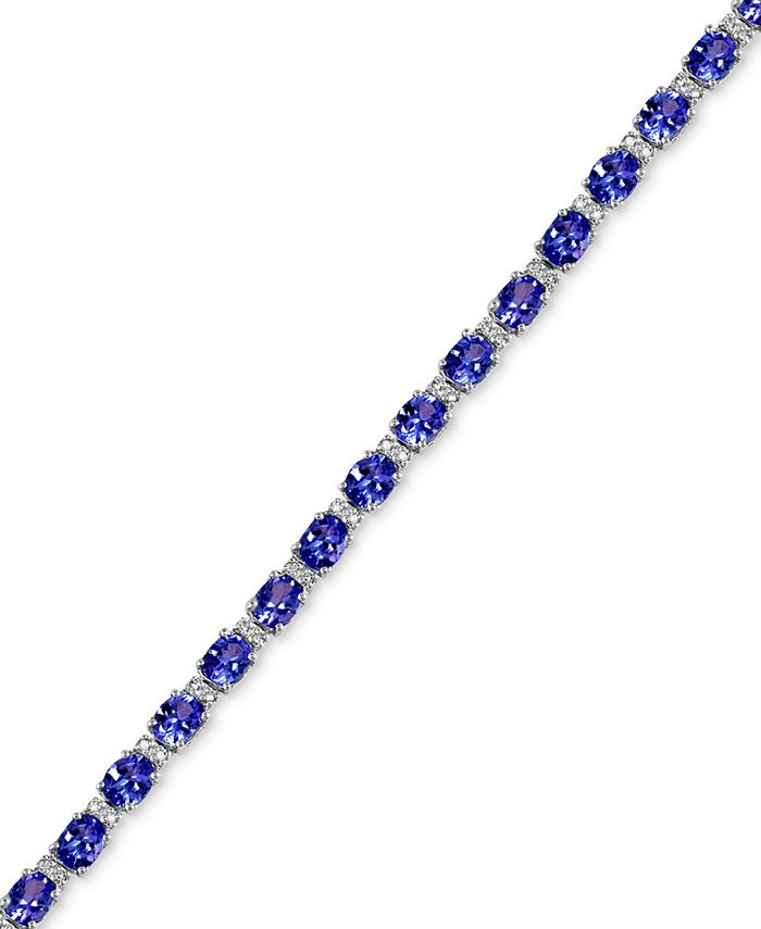 EFFY Collection - Tanzanite (8-7/8 ct. t.w.) and Diamond (1/4 ct. t.w.) Tennis Bracelet in 14k White Gold