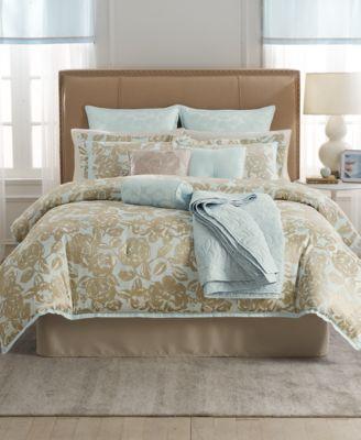 CLOSEOUT! Martha Stewart Collection Madeleine Rose 22-Pc. Queen Comforter Set