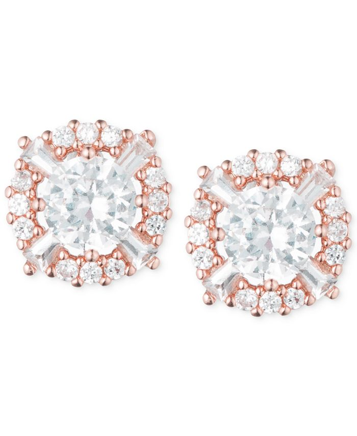 Anne Klein - Elevated Crystal Round Stud Earrings