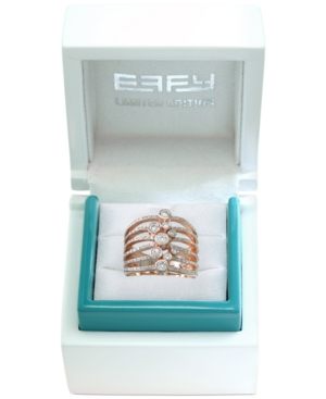 Effy Limited Edition Pave Rose Diamond Bezel Ring (3/4 ct. t.w.) in 14k Rose Gold