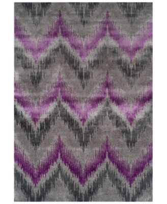 CLOSEOUT! Modern Abstracts Chevron Orchid 7'10