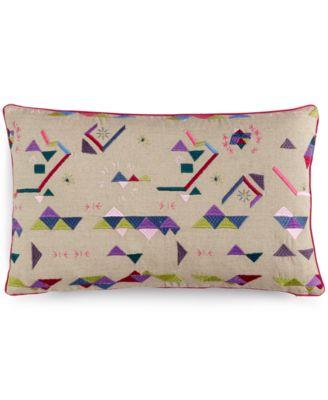 "bluebellgray Abstract 12"" x 20"" Kalkan Embroidery Decorative Pillow"