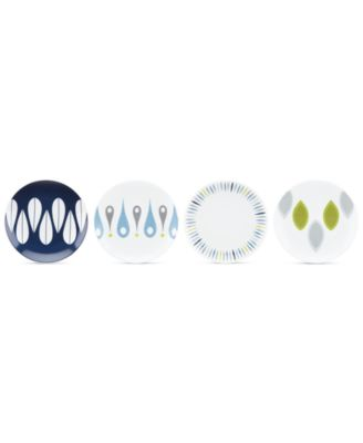 Dansk The Burbs Collection Stoneware 4-Pc. Party Plates Set