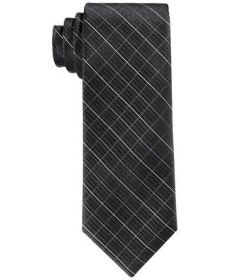 Big Boys Etched Grid Necktie