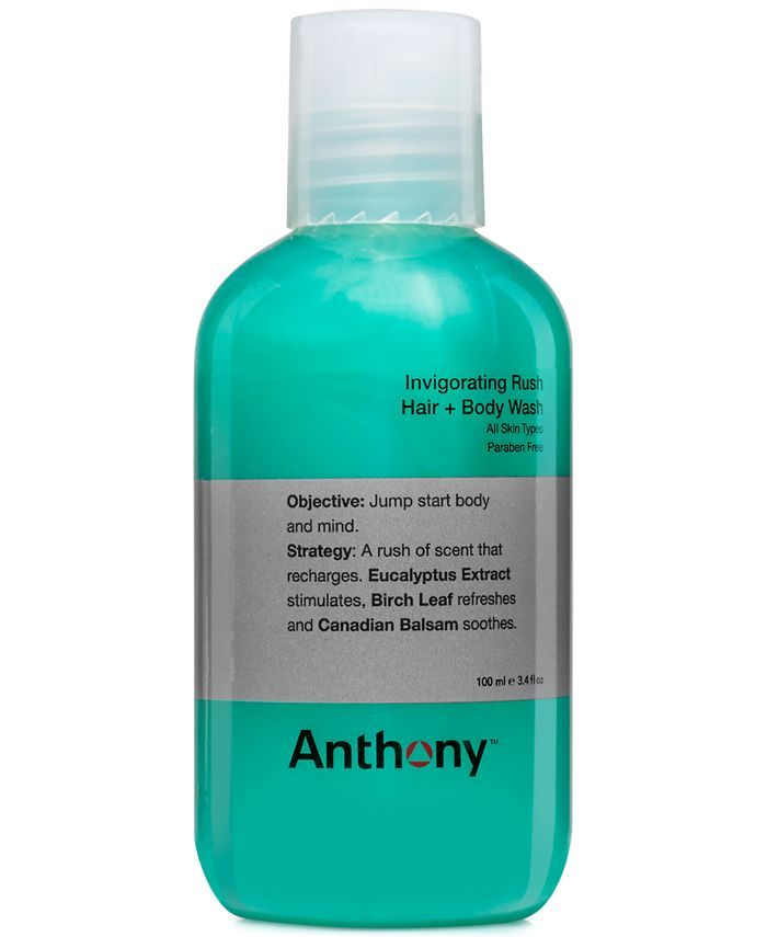 Anthony - Logistics Invigorating Rush Hair & Body Wash, 3 oz