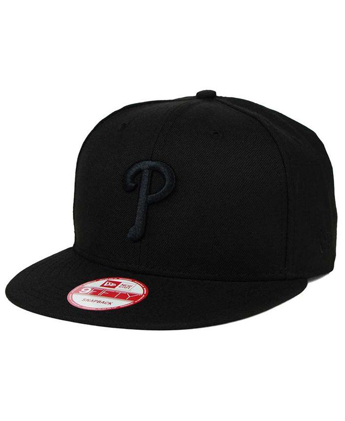 New Era - Philadelphia Phillies Black on Black 9FIFTY Snapback Cap