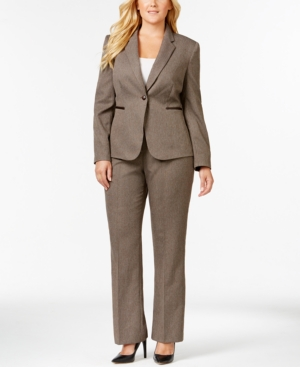 Tahari Asl Plus Size Single-Button Pantsuit