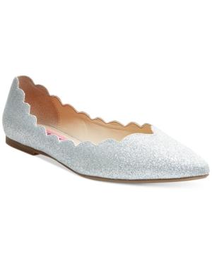 Betsey Johnson Crosbey Scalloped Flats Women's Shoes