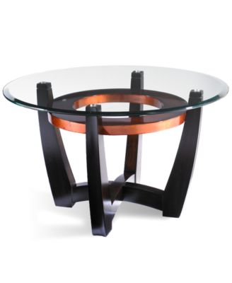 Clark Copper Round End Table Furniture Macy 39 S