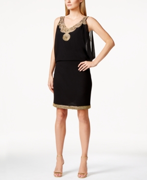 J Kara Beaded Cocktail Dress $229.00 AT vintagedancer.com