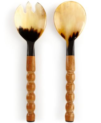 Heart of Haiti Horn Salad Servers