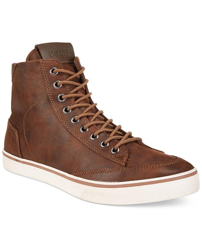 GUESS - Cognac High-Top Boots