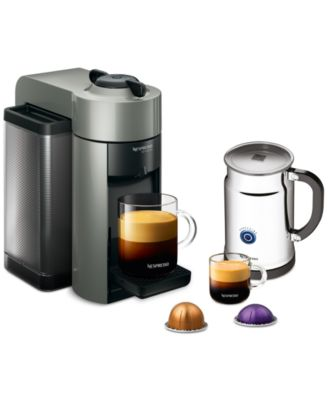 Nespresso Evoluo Bundle Single Serve Brewer & Espresso Maker + Milk Frother