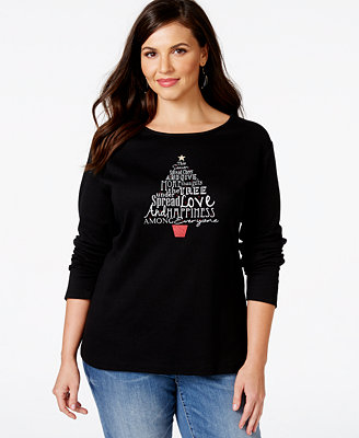 Holiday Tops Plus Size