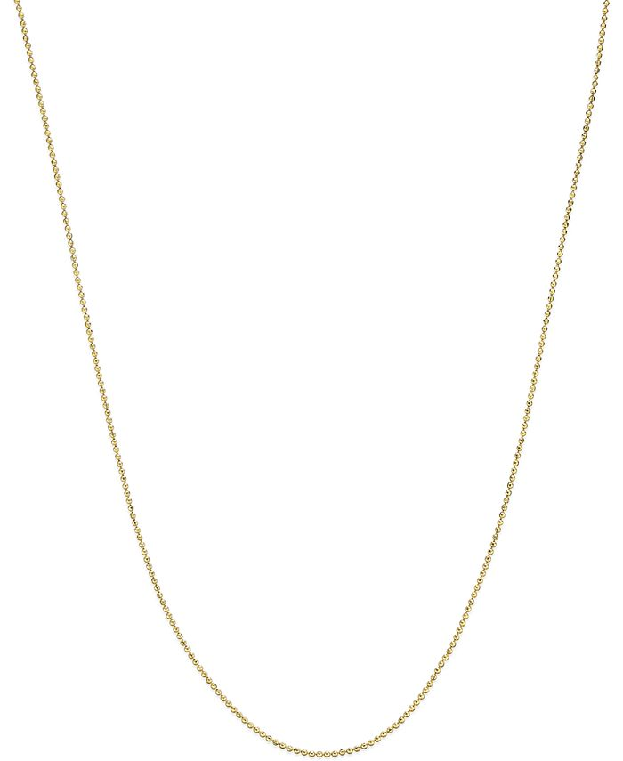 Macy's - Beaded Link Necklace in 14k Gold
