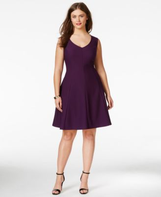 Love Squared Plus Size Pleated A-Line Dress