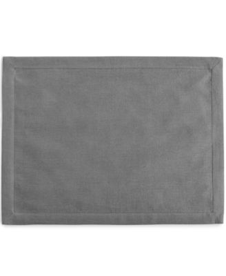 Hotel Collection Linen Modern Gray Placemat, Only at Macy's