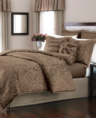 Martha Stewart Collection Gemstone Paisley Cocoa 22-Piece Queen Comforter Set, Only at Macy's
