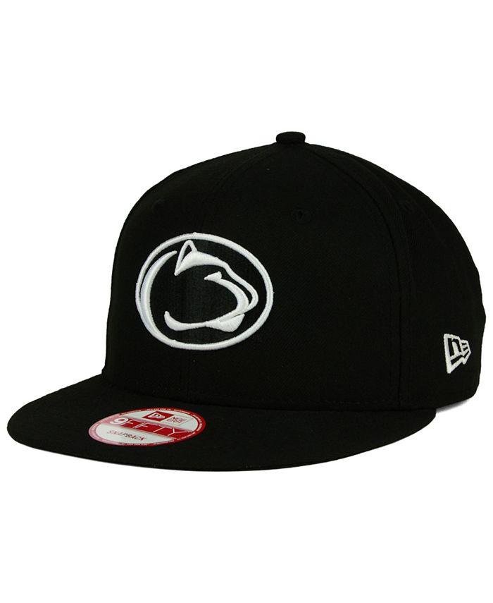 New Era - Penn State Nittany Lions Black White 9FIFTY Snapback Cap