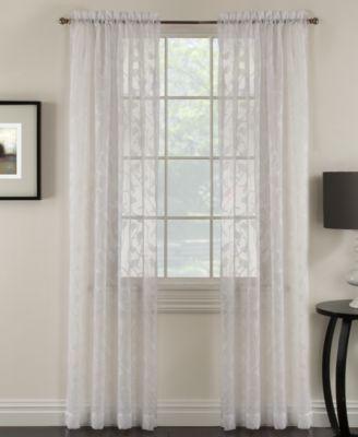 "Miller Curtains Chickadee 48"" x 84"" Sheer Curtain Panel"