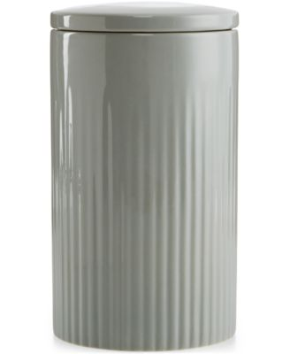 Hotel Collection Modern Stone Dinnerware Porcelain 2-Pc. Lidded Medium Canister, Only at Macy's