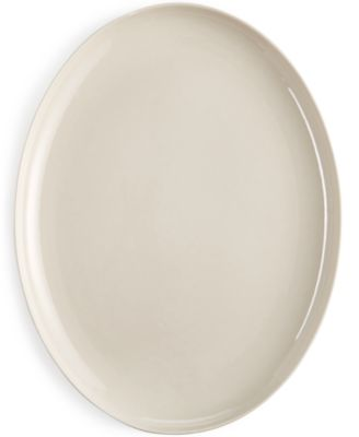 Hotel Collection Modern Bisque Serveware Porcelain Oval Platter, Only at Macy's