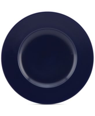 kate spade new york Larabee Dot Navy Collection Stoneware Accent Plate