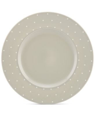 kate spade new york Larabee Dot Grey Collection Stoneware Dinner Plate