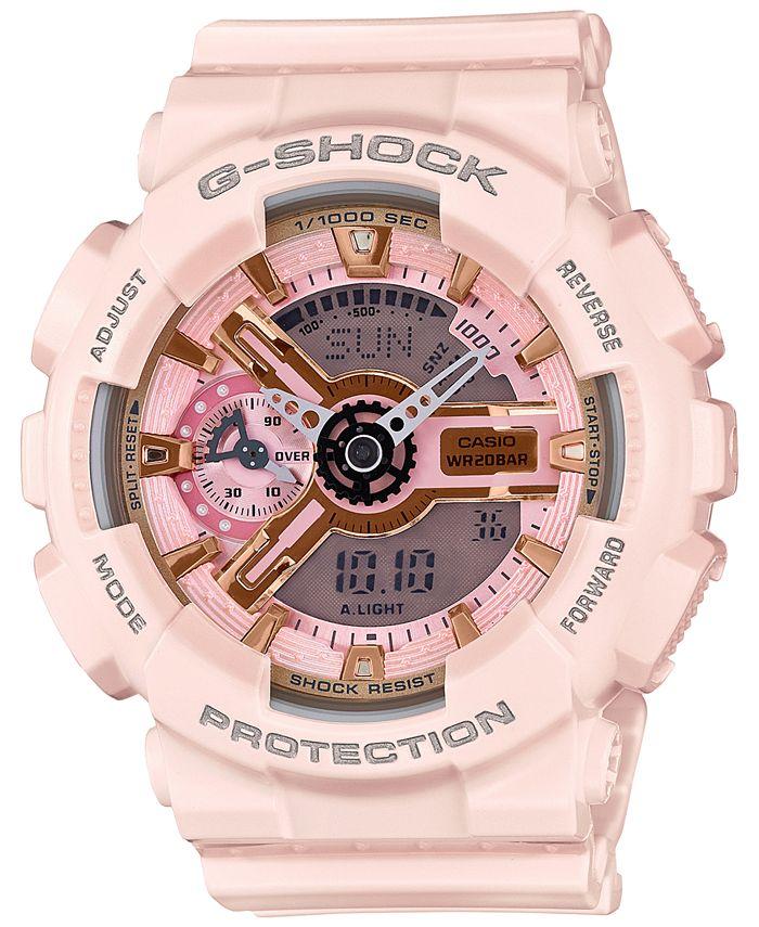 G-Shock - Women's Analog-Digital Light Pink Bracelet Watch 49x46mm GMAS110MP-4A1