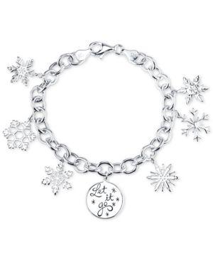 Disney Frozen Snowflake Charm Bracelet in Sterling Silver